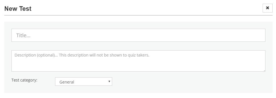 Make a test online