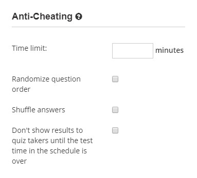 Make a test more challenging and enable anti-cheating protection for the exam