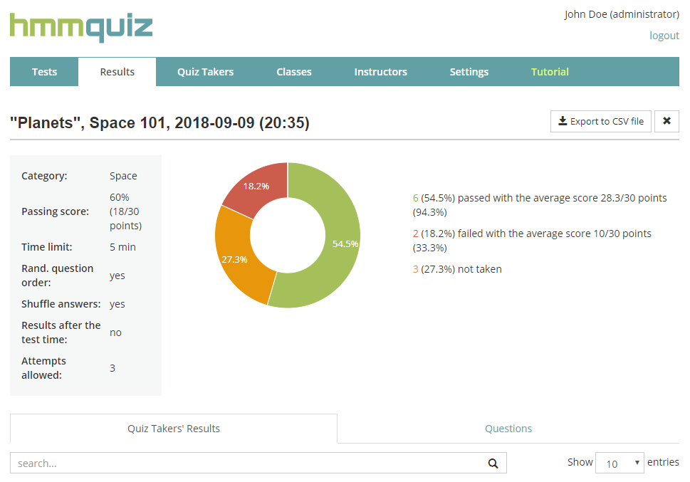 Analyze test results after it's finished