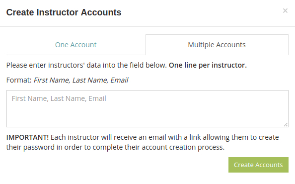 Create multiple administrator accounts to manage your online exams and quizzes