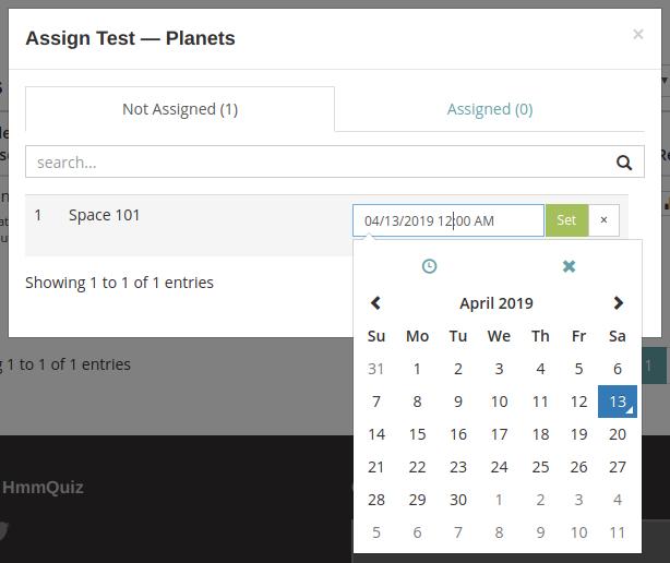 Online test schedule - auto start mode