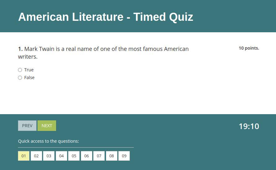 Make your own test to study online with HmmQuiz